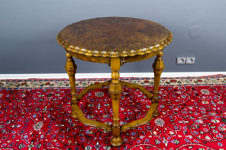 Burr Walnut Coffee Table For Sale 3