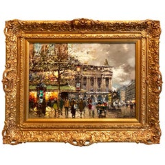 """""""A Busy Day in Paris"""" by Antoine Blanchard"""
