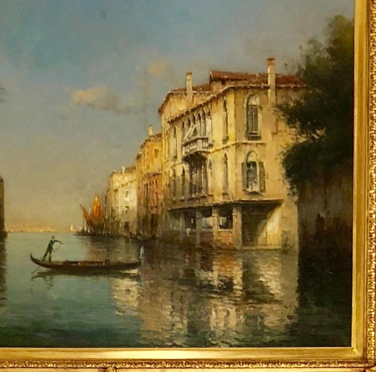 Signed oil on canvas. Antoine Bouvard (1870-1956): Bouvard was born in Paris in 1870. Beginning his studies as an architect, Bouvard changed paths, training at the Ecole des Beaux-Arts. Although based in Paris, he made frequent visits to Venice,