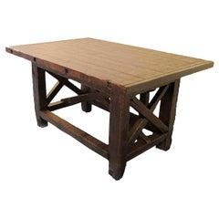 Carpenter's Wooden Workbench, Italy, 1920
