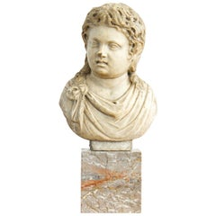 Carved Marble 2nd Century Roman Bust