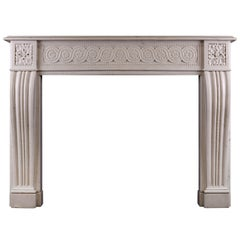 Carved Statuary Marble Fireplace