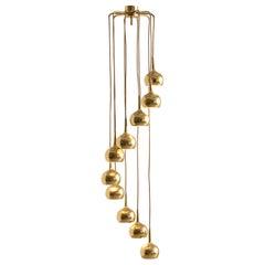 Cascade Pendant in Brass, 1960s