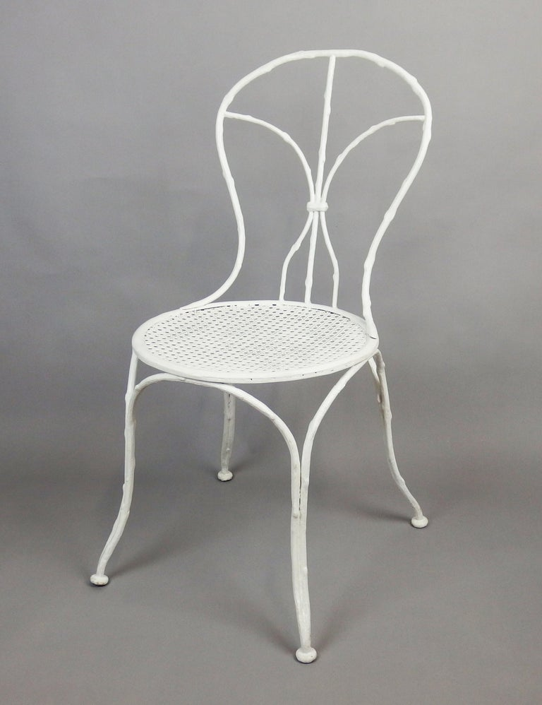 French Cast Iron Garden Chair by