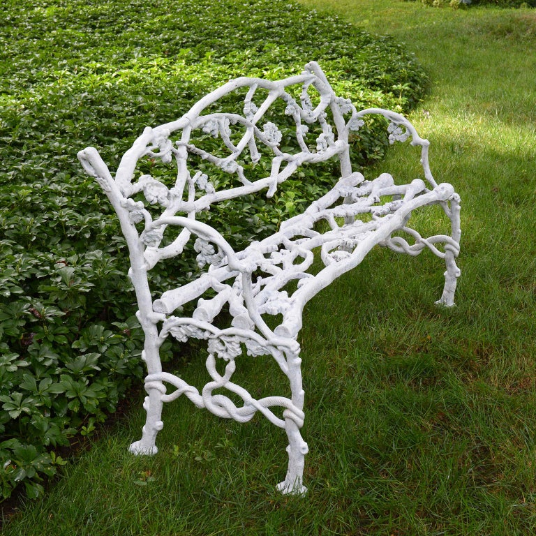 Rustic Cast-Iron Twig Settee For Sale