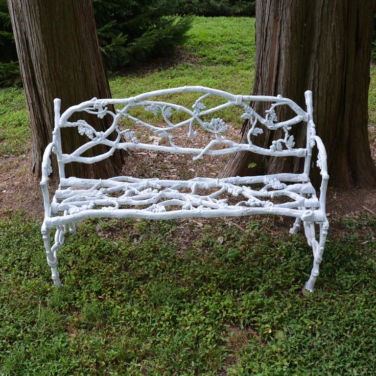 American Cast-Iron Twig Settee For Sale