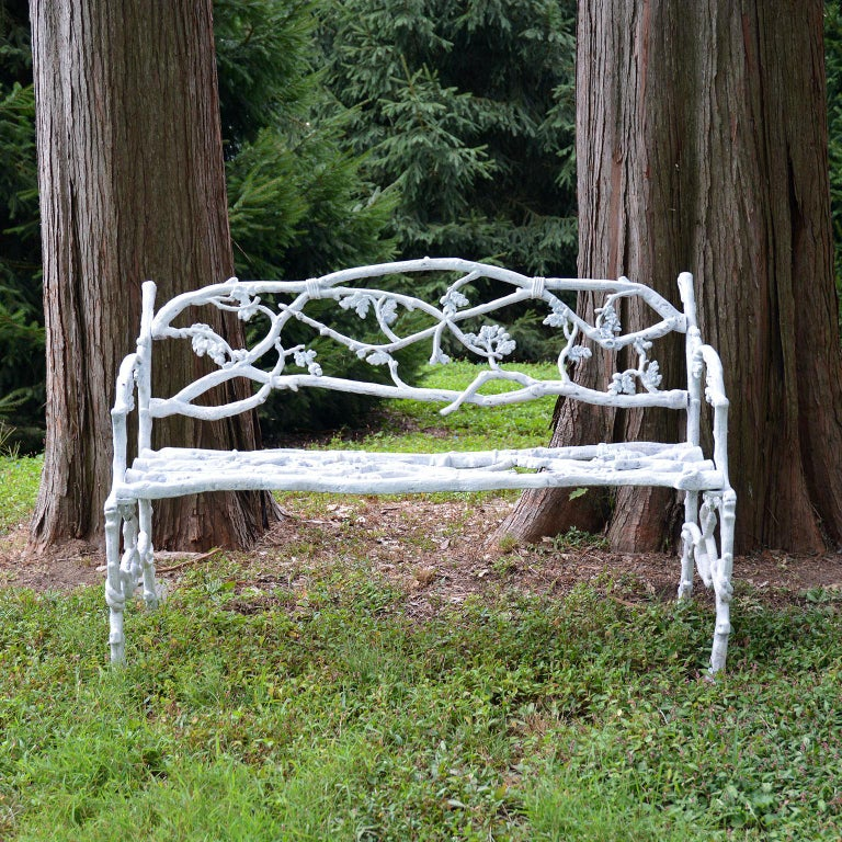 Cast-Iron Twig Settee In Good Condition For Sale In Katonah, NY