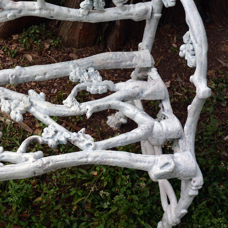 Cast-Iron Twig Settee For Sale 2