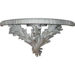 A Cast Plaster Wall Console in the Style of Serge Roche