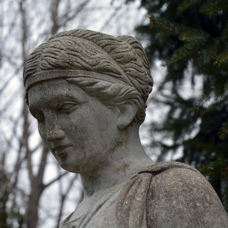 Cast-Stone Statue of Hebe For Sale 4