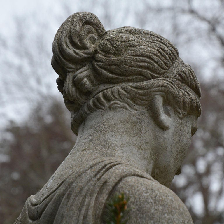 Cast-Stone Statue of Hebe For Sale 5