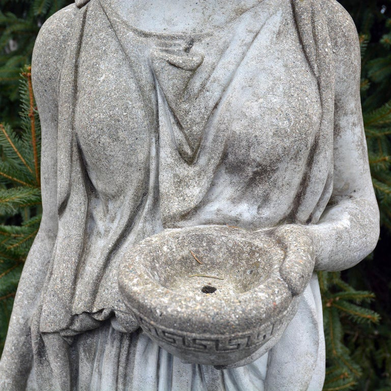 Cast-Stone Statue of Hebe For Sale 6