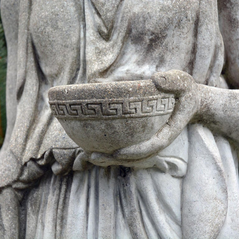 Cast-Stone Statue of Hebe For Sale 7