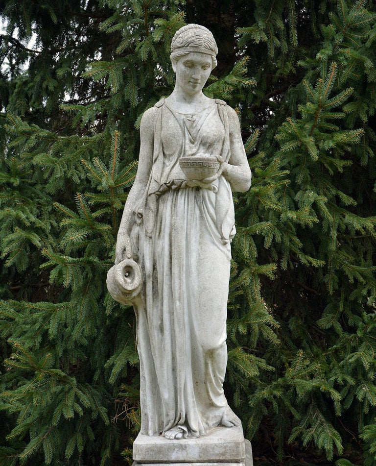 American Cast-Stone Statue of Hebe For Sale