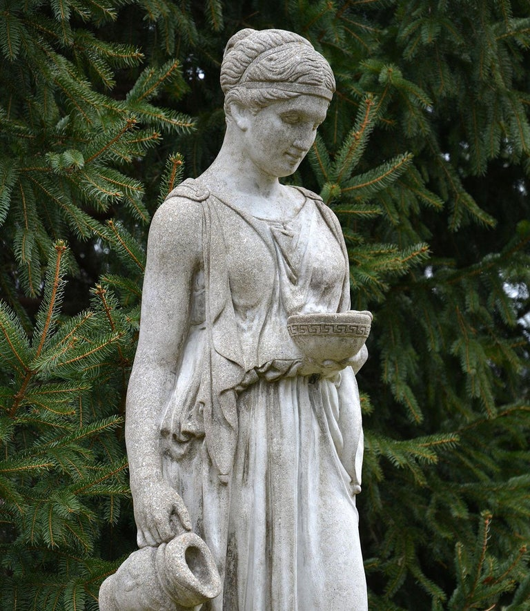 Cast Stone Cast-Stone Statue of Hebe For Sale