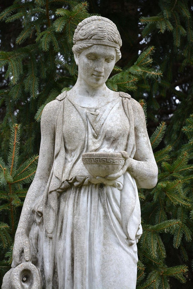 Cast-Stone Statue of Hebe For Sale 1
