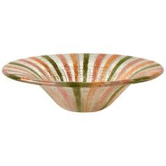 Castilian Patterned Fused Glass Bowl by Higgins