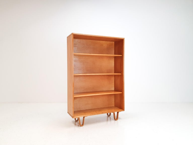 Mid-Century Modern Cees Braakman BB02 Birch Bookcase for UMS Pastoe, Designed 1952, Netherlands For Sale