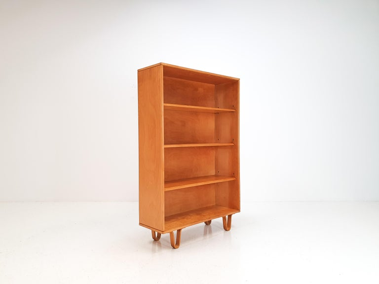 Dutch Cees Braakman BB02 Birch Bookcase for UMS Pastoe, Designed 1952, Netherlands For Sale