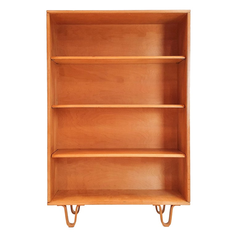Cees Braakman BB02 Birch Bookcase for UMS Pastoe, Designed 1952, Netherlands For Sale