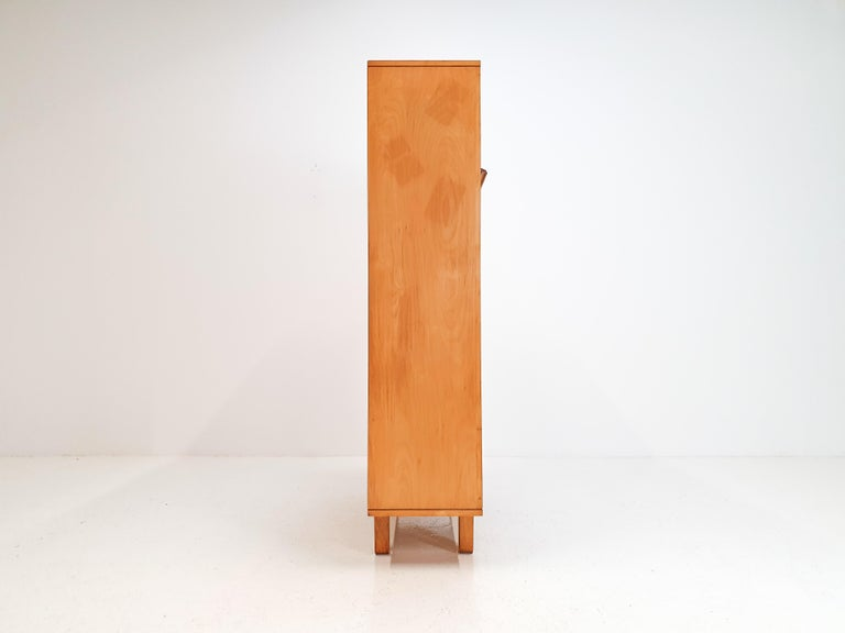 Cees Braakman BB04 Birch Secretaire for UMS Pastoe, Designed 1952, Netherlands For Sale 5