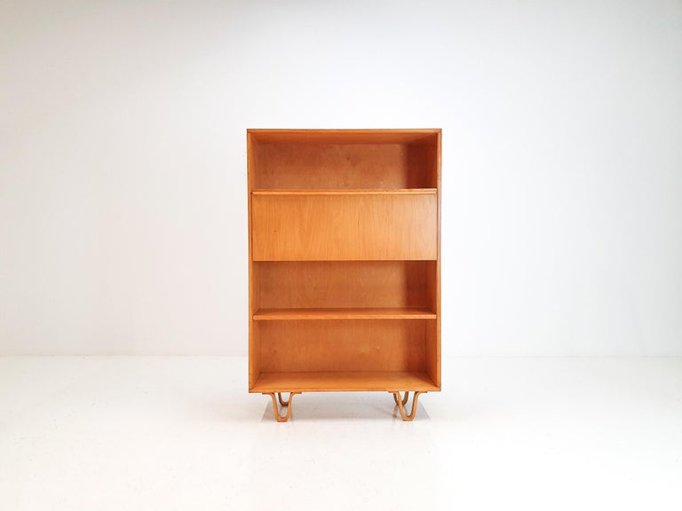 A Cees Braakman BB04 Birch Secretaire for UMS Pastoe, Designed 1952, Netherlands
