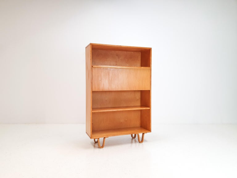 Dutch Cees Braakman BB04 Birch Secretaire for UMS Pastoe, Designed 1952, Netherlands For Sale