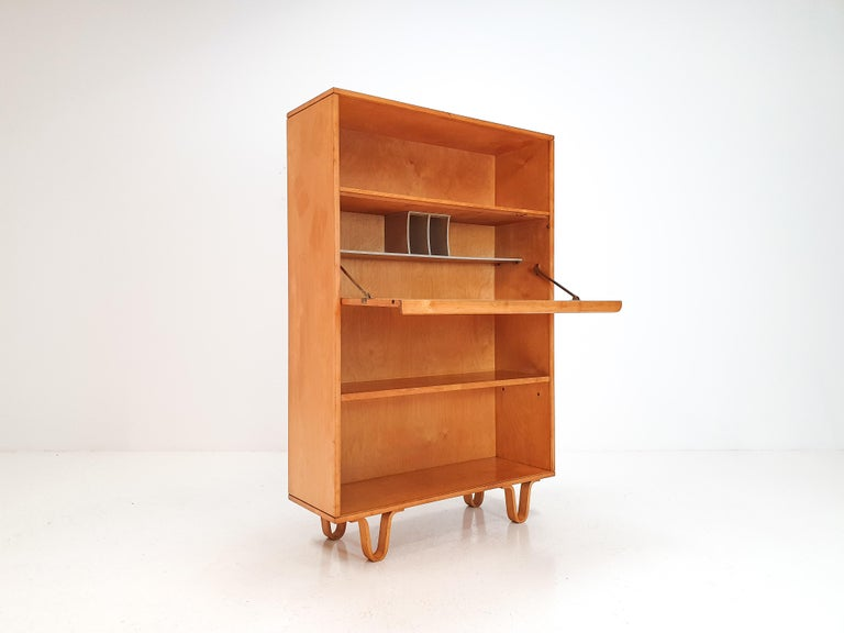 20th Century Cees Braakman BB04 Birch Secretaire for UMS Pastoe, Designed 1952, Netherlands For Sale