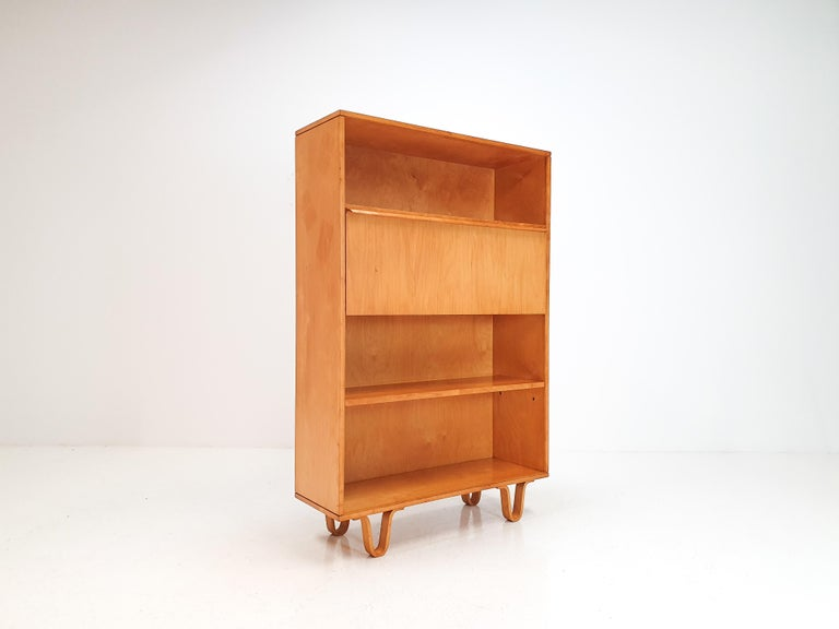 Cees Braakman BB04 Birch Secretaire for UMS Pastoe, Designed 1952, Netherlands For Sale 1