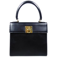 A Céline Handbag in leather Circa 1995