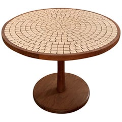 Ceramic and Walnut Occasional Table by Martz