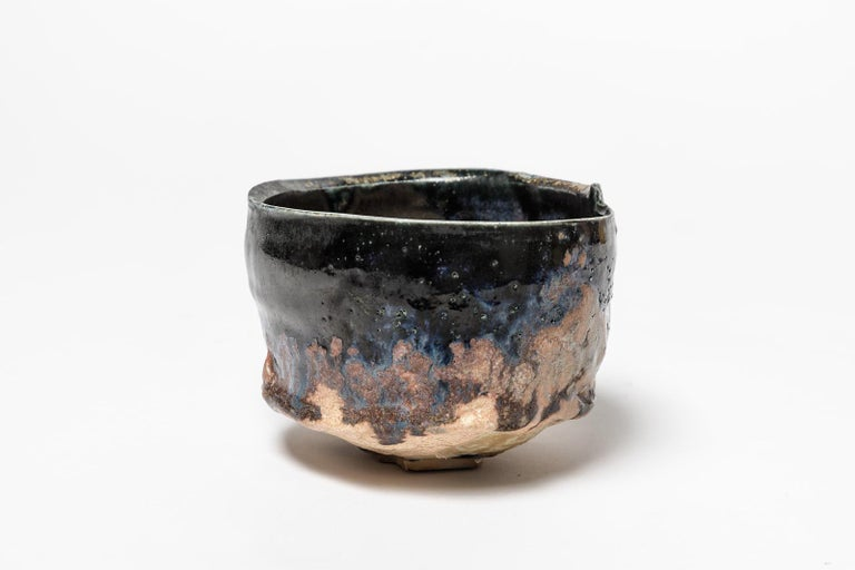 Beaux Arts Ceramic Bowl or Cup by Claude Champy, circa 1980-1990 For Sale