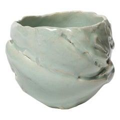 Ceramic Bowl with Celadon Glaze Decoration, by Jean-François Fouhilloux