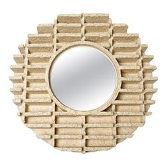 A ceramic mirror by Denis Castaing, 2019