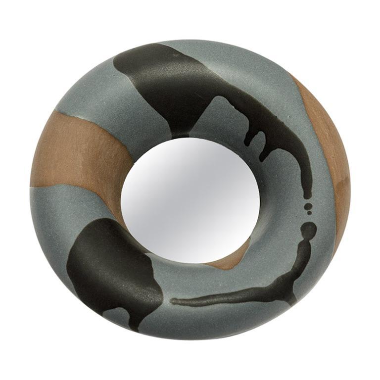 Ceramic Mirror by Mia Jensen, Signed, Unique Piece, circa 2019
