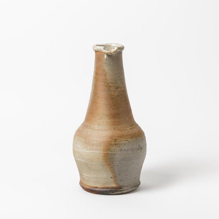 Beaux Arts Ceramic Pitcher by Jean Linard, to La Borne, circa 1960-1970 For Sale