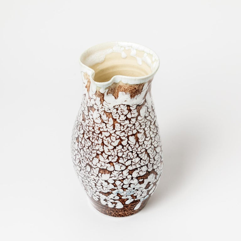 Beaux Arts Ceramic Pitcher with Glaze Decoration by Accolay, circa 1960-1970 For Sale