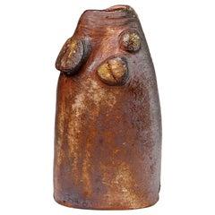 Ceramic Sculptural Vase to La Borne, Signed at the Base, circa 1970