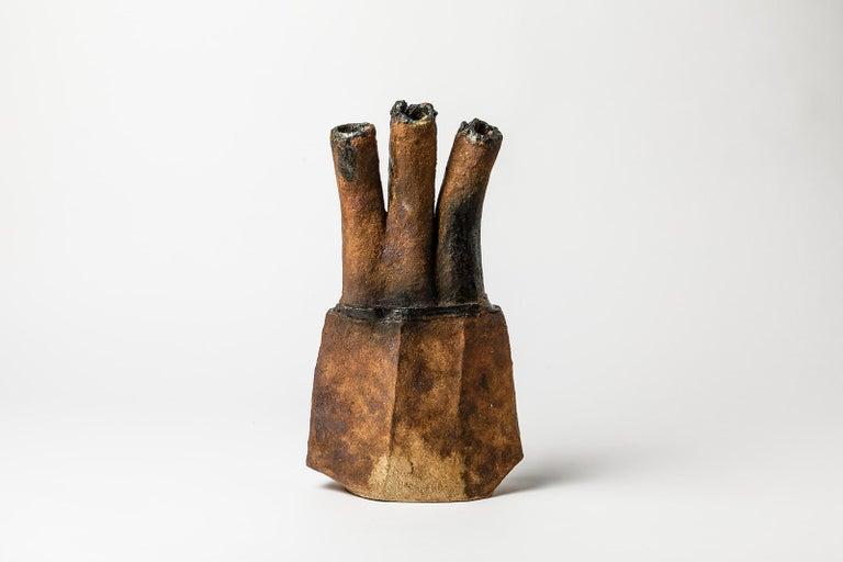 Ceramic Sculpture by Gérard Brossard, to La Borne, circa 2000 In Excellent Condition For Sale In Saint-Ouen, FR
