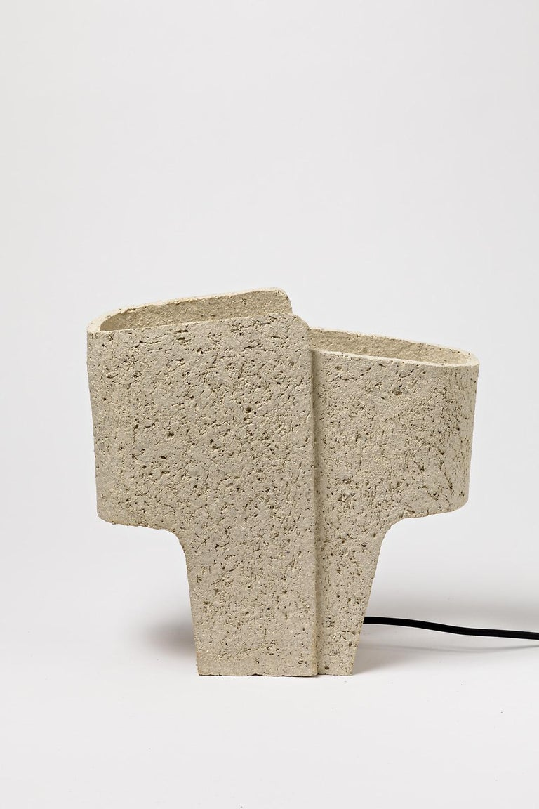 French Ceramic Table Lamp by Denis Castaing, 2020 For Sale