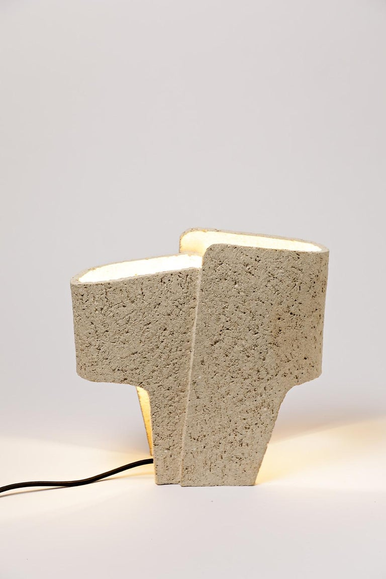 Contemporary Ceramic Table Lamp by Denis Castaing, 2020 For Sale