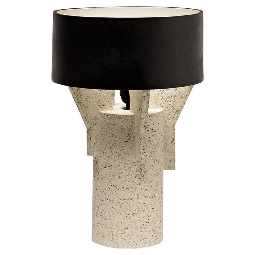Ceramic Table Lamp by Denis Castaing with Brown Glaze Decoration, 2019