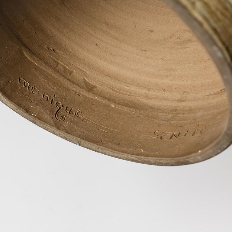 Ceramic Table Lamp, Signed Monique, circa 1960-1970 to La Borne, France For Sale 1