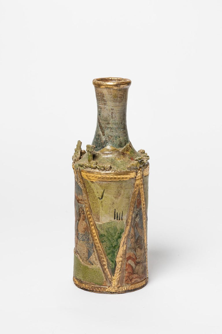 French Ceramic Vase by Alain Girel, circa 1987 For Sale