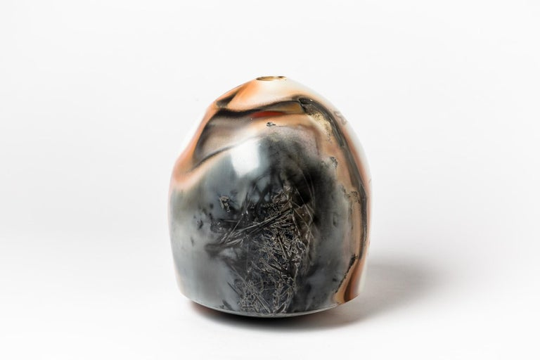 Ceramic Vase by Alistair Dahnieux, circa 2009 In Excellent Condition For Sale In Saint-Ouen, FR
