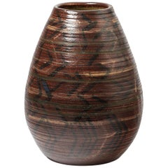 Ceramic Vase with Geometrical Decoration by Accolay, circa 1970-1980