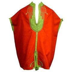 A Ceremonial Jebba Tunic in Felt Embroidered with Silk - Tunisia Circa 1900/1950