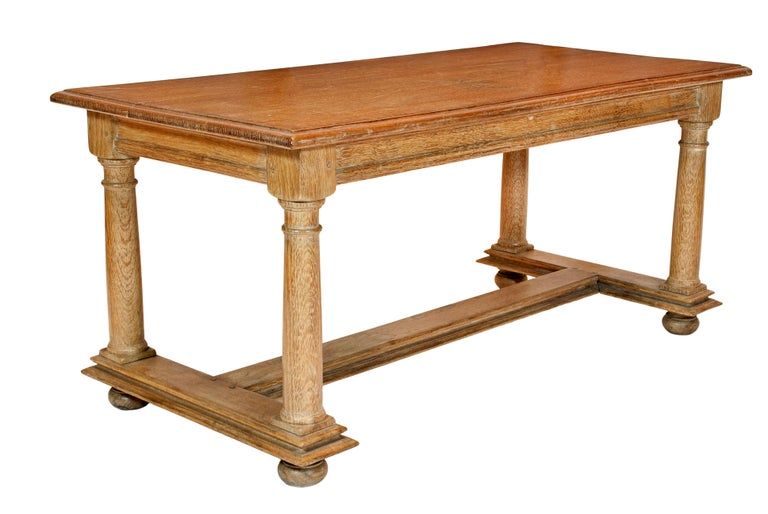 20th Century Cerused Oak Coffee Table Attributed to Jean Charles Moreau For Sale