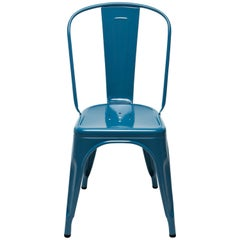 A-Chair in Glossy Ocean Blue by Xavier Pauchard & Tolix
