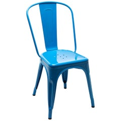 A-Chair in Glossy Sky Blue by Xavier Pauchard & Tolix
